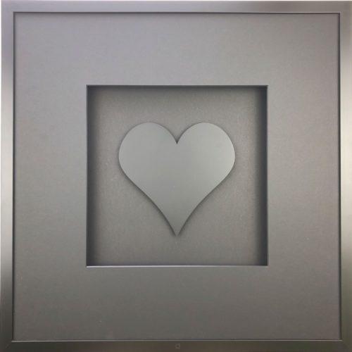 Wandbild Metall Herz schwarz 58 cm