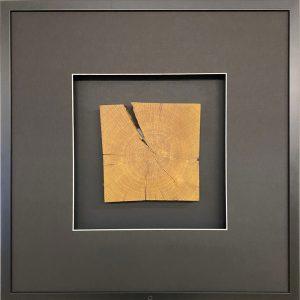 Wandbild Holz quadratisch 58 cm